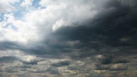 Loop of black storm clouds. stock footage