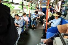 Loop Bus in Kyoto, Japan Stock Photo