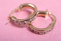 Loop earrings royalty free stock photo