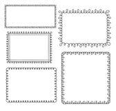 Loop frames. Set of doodle loop frames Stock Photos