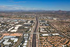 Loop 101 freeway in North Scottsdale Stock Images
