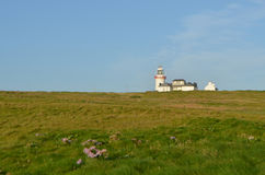 Loop Head Lighthouse and Lightkeeper's House in Clare, Ireland Royalty Free Stock Photography