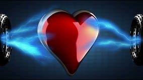 Loop heart rotate. 3D rendered stock footage