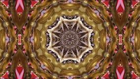 Loop kaleidoscope background stock video footage