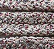 Loop knot rope string. Ship`s rope?nReliable sea knot Stock Photos