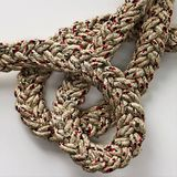 Loop knot rope string. Ship`s rope Stock Photos
