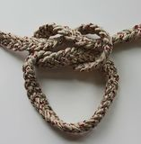 Loop knot rope string. Ship`s rope Stock Image