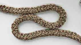 Loop knot rope string. Ship`s rope Stock Photo