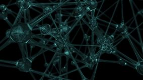 Loop with neuron-like network stock video footage