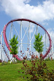 Loop. Photo of a loop of a roller coaster Royalty Free Stock Photos