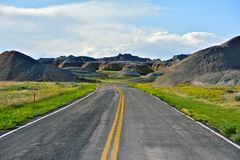 Loop Road Badlands Stock Image