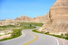 Loop Road Badlands Stock Images