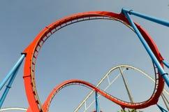 Loop roller coaster Stock Image