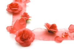 Loop with roses and pearls Stock Photography