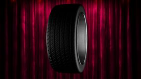 Loop rotate wheel at curtain stage stock footage