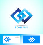 Loop seamless square rhombus logo Stock Image