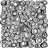 Loop spiral concentric circles background in black and white Royalty Free Stock Photography