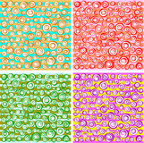 Loop spiral concentric circles collection in different color Royalty Free Stock Image