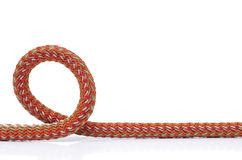 Loop. Strong rope on a white background close-up Stock Photos