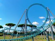 Loop track rollercoaster funfair. Loop track rollercoaster at funfair Royalty Free Stock Photos