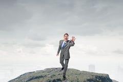 Loop uw doelstellingen de achterstand in Stock Afbeeldingen