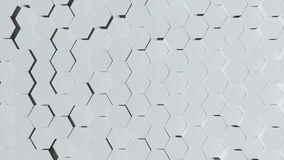 Abstract Looping Video Background White Hexagon stock illustration