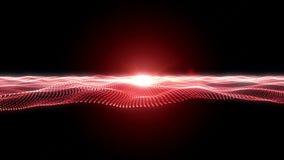 Loopable提取与红色小点波浪的秀丽射击 库存例证