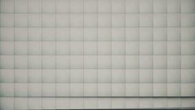 loopable现代抽象金属栅格的表面转动明亮的灰色立方体波浪