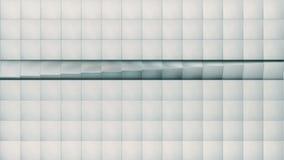 loopable现代抽象金属栅格的表面转动明亮的银色立方体波浪  影视素材