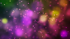 Loopable Abstract Colored particles fly stock video
