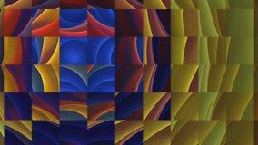 Loopable  Abstract fractal morph geometric mosaic breaking box stock video