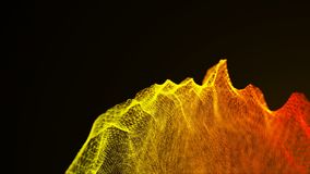 Loopable abstract particle background, 3d render with depth of field Royalty Free Stock Photo