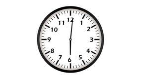 Loopable animation of clock. 4k UltraHD video. Footage stock illustration