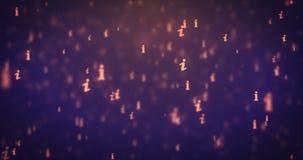 Loopable animation modern moving orange info icons background. 4k footage stock illustration