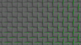 Loopable background of flipping tiles. 3D geometric animation. stock footage