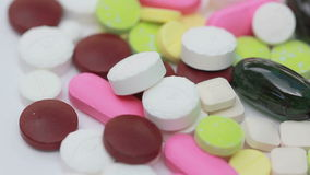 Loopable Colorful Medicine Pills stock footage