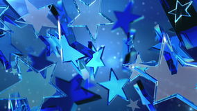 Loopable crystal stars Royalty Free Stock Images