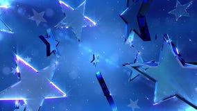 Loopable crystal stars Stock Photo