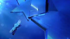 Loopable crystal stars Stock Image