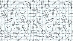 Loopable de nuevo a la animación de la escuela ilustración del vector