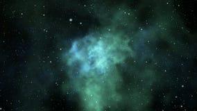 Loopable flight through nebula. Seamlessly loopable animation of flying through cosmic nebula stock video