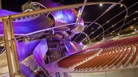 Loopable het Millenniumpark van het Timelapsetheater stock videobeelden