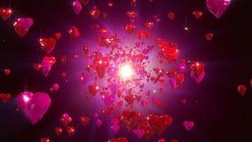 Loopable Hintergrund der Herzen lizenzfreie abbildung