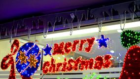 Loopable merry Christmas decoration stock footage