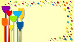 Loopable party drinks with bubbles animation Stock Photo