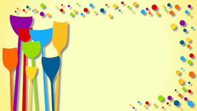 Loopable party drinks with bubbles animation. Animated colored drink cocktail glasses with bubbles. It can be looped with no cuts stock video footage