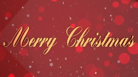 Loopable red Christmas background stock video footage