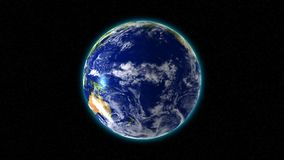 Loopable rotating Earth vector illustration