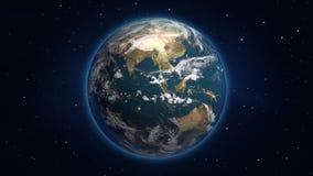 Loopable roterande jordklot vektor illustrationer