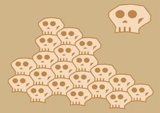 Loopable Skull Vector For Tessellation Patterns Royalty Free Stock Photos